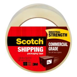Scotch(R) 3750 Commercial Performance Packaging Tape Bonus Pack With Pistol-Grip Dispenser, 1 7/8in. x 54.6 Yd., Case Of 36
