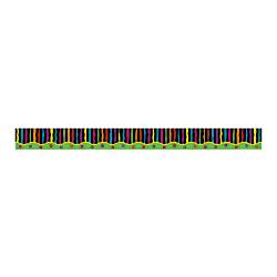 Barker Creek Straight-Edge Borders, 3in. x 35in., Neon Stripe, Pack Of 12