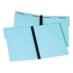 Pendaflex(R) Pressboard Fastener Folders, 2in. Expansion, Letter Size, 100% Recycled, Light Blue, Pack Of 25 Folders