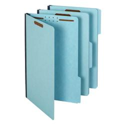Pendaflex(R) Pressboard Fastener Folders, 2in. Expansion, Legal Size, 100% Recycled, Light Blue, Pack Of 25 Folders