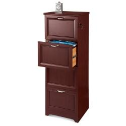 Realspace(R) Magellan Collection Vertical File Cabinet, 4 Drawers, 54in.H x 18-3/4in.W x 19in.D, Classic Cherry
