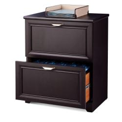Realspace(R) Magellan Collection Lateral File Cabinet, 2 Drawers, 30in.H x 23-1/2in.W x 16-1/2in.D, Espresso