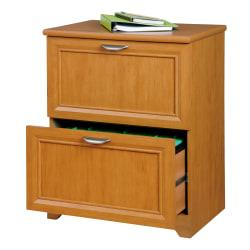 Realspace(R) Magellan Collection Lateral File Cabinet, 2 Drawers, 30in.H x 23-1/2in.W x 16-1/2in.D, Honey Maple