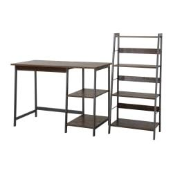 Homestar North America 2-Piece Desk And Bookcase Set, FSC(R) Certified, Mocha/Brown