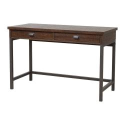 Homestar North America 2-Drawer Desk With Hutch, FSC(R) Certified, Dark Brown