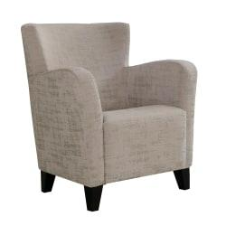 Monarch Specialties Brushed Velvet Accent Chair, Taupe/Black