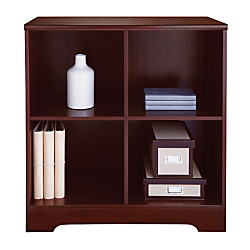 Realspace (R) Magellan 4-Cube Bookcase, 33 7/8in.H x 30 1/8in.W x 15 5/8in.D, Classic Cherry