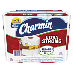 Charmin(R) Ultra Strong 2-Ply Bathroom Tissue, 308 Sheets Per Roll, Pack Of 18