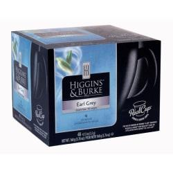 Higgins Burke RealCup(TM) Earl Grey Tea Capsules, 5.08 Oz. Box Of 48