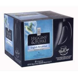 Higgins Burke English Breakfast Tea RealCup(TM) Capsules, 5.08 Oz. Box Of 48