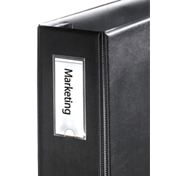Cardinal(R) HOLDit!(R) Label Holders For 1in. (Or Larger) Binders, 1 3/8in. x 3in., Pack Of 12