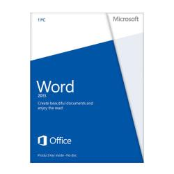 Microsoft(R) Office Word 2013, English Version, Product Key