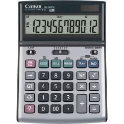 Canon BS1200TS Desktop Calculator - Metal Cover, Auto Power Off, Rubber Grip, Non-slip Rubber Feet - 12 Digits - LCD - Battery/Solar Powered - 1.1in. x 5.1in. x