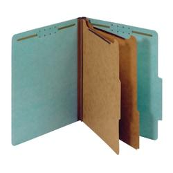 Office Depot(R) Brand Pressboard Classification Folders, 2 1/2in. Expansion, Letter Size, Blue, Pack Of 10