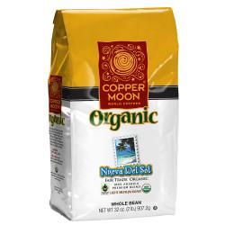 Copper Moon Coffee Whole Bean Coffee, Nueva Del Sol Fair Trade, 2 Lb Per Bag, Case Of 4 Bags