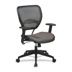 Office Star(TM) Matrex Mesh Back Task Chair, 42in.H x 27in.W x 26 1/2in.D, Black Frame, Latte Fabric