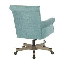 Office Star(TM) Megan Metal/Wood Office Chair, Turquoise