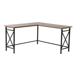 Homestar North America Corner Desk, FSC Certified(R), Black/Dark Brown