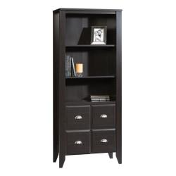 Sauder(R) Shoal Creek 4-Shelf Bookcase With 2 Doors, Jamocha Wood