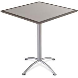 Iceberg Dura Comfort Edge iLand Square Tables - Square Top - 36in. Table Top Length x 36in. Table Top Width x 1.13in. Table Top Thickness - 42in. Height - Assem