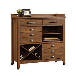Sauder Carson Forge Sideboard, 40 1/2in.H x 40 3/4in.W x 16 5/8in.D, Washington Cherry