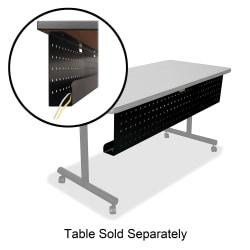 Lorell(R) Rectangular Training Table Modesty Panel, For 48in.W Table, Black