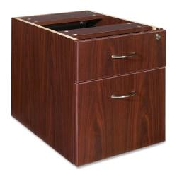 Lorell(R) Essentials Series 22in.D 2-Drawer Fixed Pedestal File Cabinet, Box/File, Mahogany