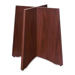Lorell(R) Laminate Conference Table Base, For Round Table Tops, Mahogany