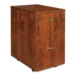 Lorell(R) Essentials Series 22in.D 2-Drawer Mobile Pedestal File Cabinet, Cherry