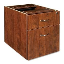 Lorell(R) Essentials Series 22in.D 2-Drawer Fixed Pedestal File Cabinet, Box/File, Cherry