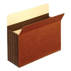 Office Depot(R) Brand Premium Redrope File Pockets, 5 1/4in. Expansion, Letter Size, Brown, Pack Of 5