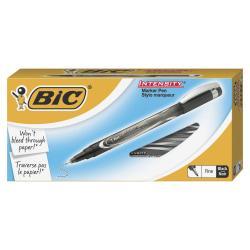 BIC(R) Intensity Marker Pens, Ultra-Fine Point, 0.5 mm, Black Barrel, Black Ink, Pack Of 12 Pens