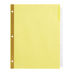 Office Depot(R) Brand Insertable Dividers With Big Tabs, Buff, Clear Tabs, 5-Tab