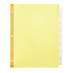 Office Depot(R) Brand Insertable Dividers With Big Tabs, Buff, Clear Tabs, 8-Tab