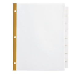Office Depot(R) Brand Insertable Dividers With Big Tabs, White, Clear Tabs, 8-Tab