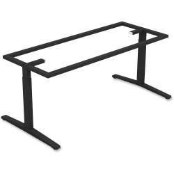 Lorell(R) Rectangular Conference T-Leg Table Base, For 8ft.W Top, Black