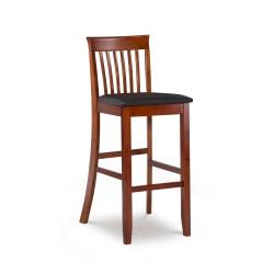 Linon Home Decor Products Triena Collection Craftsman Bar Stool, Dark Cherry/Dark Brown