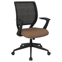 Office Star (TM) Work Smart Mesh Task Chair, Taupe/Black