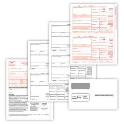 ComplyRight(TM) 1099-INT Inkjet/Laser Tax Forms With Envelopes, 2-Up, 4-Part, 8 1/2in. x 11in., Pack Of 100 Forms And Envelopes