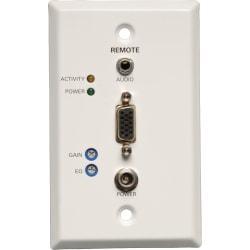 Tripp Lite VGA + Audio over Cat5/Cat6 Video Receiver RJ45 type Wallplate TAA / GSA -  B132-100A-WP-1