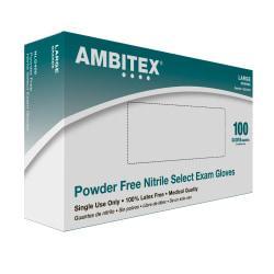Tradex International Select Powder-Free Nitrile Exam Gloves, Large, Blue, Box Of 100