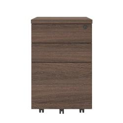 Ameriwood(TM) Home AX1 Letter-/Legal-Size Mobile File Cabinet, 3 Drawers, Medium Brown