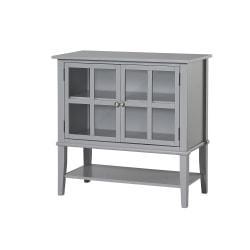 Ameriwood(TM) Home Franklin 2-Door Storage Cabinet, 2 Shelves, Gray