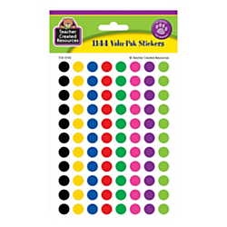 Teacher Created Resources Mini Stickers, 3/8in., Colorful Circles, Pre-K - Grade 12, Pack Of 1,144