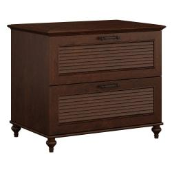 kathy ireland(R) Office by Bush Furniture Volcano Dusk Lateral File Cabinet, Coastal Cherry, Standard Delivery