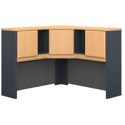 Bush Business Furniture Office Advantage Corner Hutch 48in.W, Beech/Slate, Premium Installation