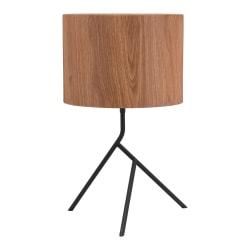 Zuo Modern Sutton Table Lamp, 19 13/16in.H, Brown Shade/Black Base