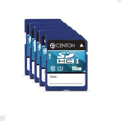 Centon Secure Digital(TM) Memory Cards, 16GB, Pack Of 5 Memory Cards, S1-SDHU1-16G-5-B