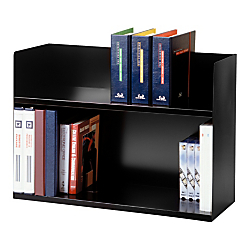 MMF Industries Steelmaster 2-Tier Book Rack, 20in.H x 29 1/8in.W x 10 3/8in.D, Black