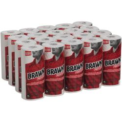 Brawny Perforated Wipers, 84 Sheets Per Roll, Case Of 20 Rolls